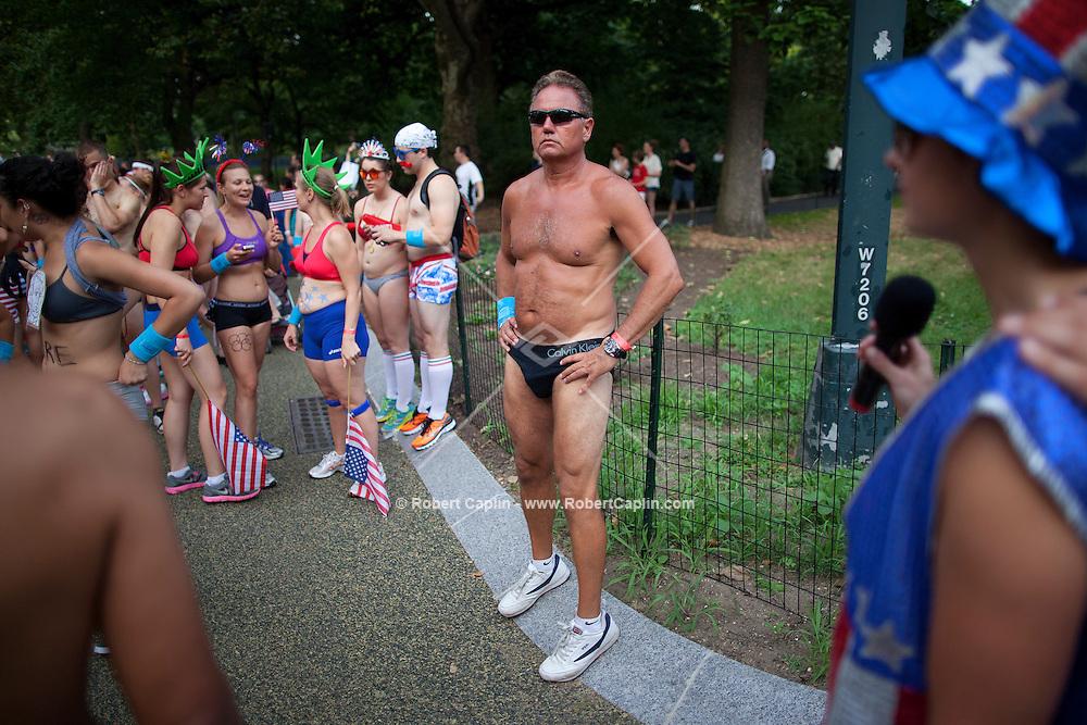 NYC Triathlon Underwear Run in Central Park. .. Photo by Robert Caplin