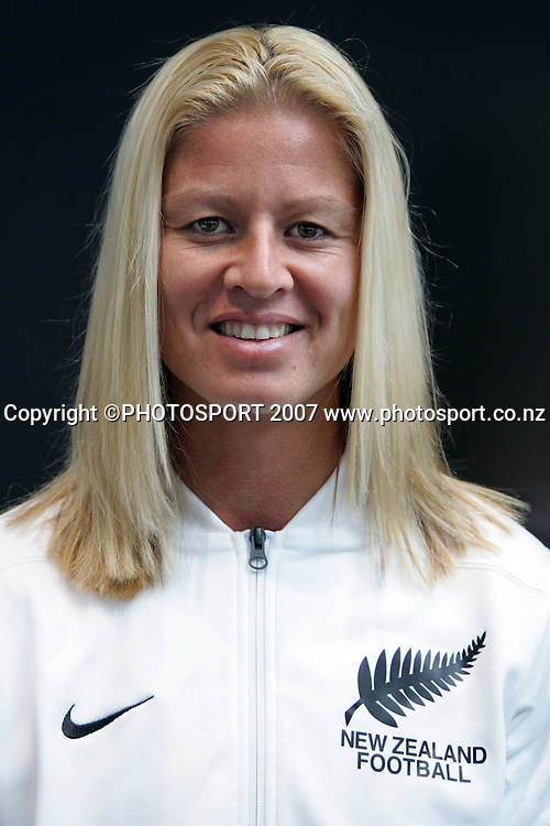 Vice-captain Maia Jackman. NZ Women's Soccer team media session. Giltrap Prestige, Auckland, New Zealand. Tuesday 4 September 2007. Photo: Hagen Hopkins/PHOTOSPORT