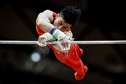 October 29, 2018 - Doha, Qatar - Chaopan Lin of  China   during  High Bar, Team final for Men at the Aspire Dome in Doha, Qatar, Artistic FIG Gymnastics World Championships on October 29, 2018. (Credit Image: © Ulrik Pedersen/NurPhoto via ZUMA Press)