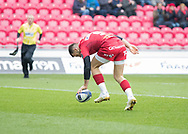 Scarlets' Gareth Davies scores his sides second try<br /> <br /> Photographer Simon King/Replay Images<br /> <br /> EPCR Champions Cup Round 3 - Scarlets v Benetton Rugby - Saturday 9th December 2017 - Parc y Scarlets - Llanelli<br /> <br /> World Copyright © 2017 Replay Images. All rights reserved. info@replayimages.co.uk - www.replayimages.co.uk
