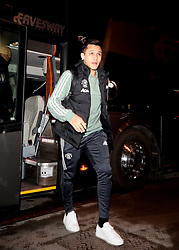 Manchester United's Alexis Sanchez arrives for the Emirates FA Cup, fourth round match at Huish Park, Yeovil.