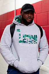 Cherif Traore of Benetton Rugby arrives at  prior to kick off - Ryan Hiscott/JMP - 08/11/19 - SPORT - Parc Y Scarlets - Swansea, Wales -