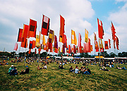 Flags in One World stage Glastonbury, 2005