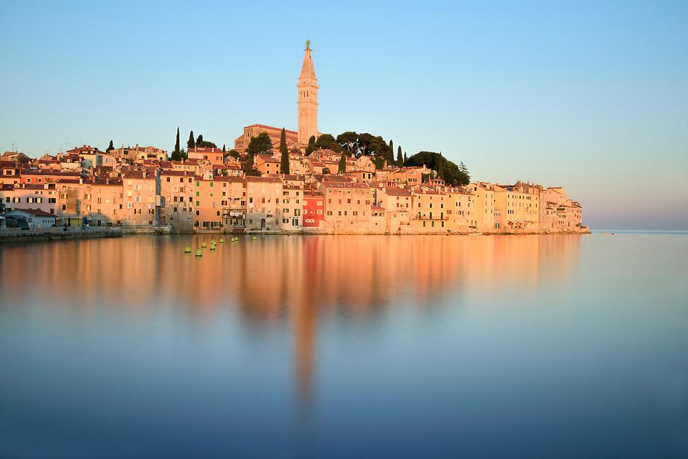Europe, Balkan, Croatia, Istria, Rovinj, ancient city at sunrise