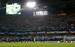 General view of the Malmo fans during the game