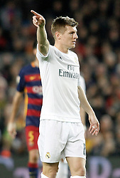 02.04.2016, Camp Nou, Barcelona, ESP, Primera Division, FC Barcelona vs Real Madrid, 31. Runde, im Bild Real Madrid's Toni Kroos // during the Spanish Primera Division 31th round match between Athletic Club and Real Madrid at the Camp Nou in Barcelona, Spain on 2016/04/02. EXPA Pictures © 2016, PhotoCredit: EXPA/ Alterphotos/ Acero<br /> <br /> *****ATTENTION - OUT of ESP, SUI*****