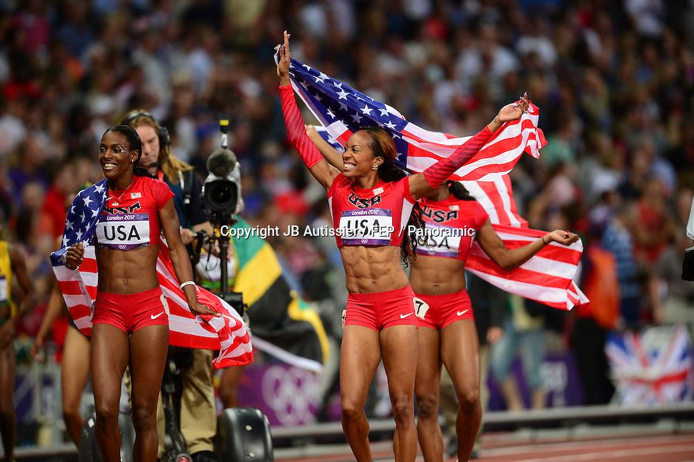 Joie du Relais des USA - Sanya Richards Ross / Allyson Felix / DeeDee Trotter / Francena McCorory
