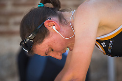 Lisa Brennauer (GER) of Wiggle High5 Cycling Team warms up for Stage 1 of the Madrid Challenge - a 12.6 km team time trial, starting and finishing in Boadille del Monte on September 15, 2018, in Madrid, Spain. (Photo by Balint Hamvas/Velofocus.com)
