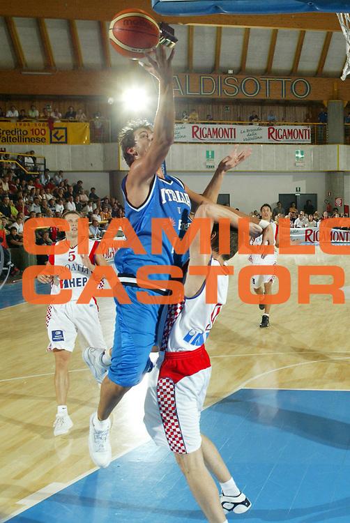 DESCRIZIONE : Bormio Torneo Internazionale Gianatti Italia Croazia <br /> GIOCATORE : Marco Belinelli<br /> SQUADRA : Nazionale Italia Uomini <br /> EVENTO : Bormio Torneo Internazionale Gianatti <br /> GARA : Italia Croazia <br /> DATA : 01/08/2007 <br /> CATEGORIA : Tiro<br /> SPORT : Pallacanestro <br /> AUTORE : Agenzia Ciamillo-Castoria/G.Ciamillo<br /> Galleria : Fip Nazionali 2007 <br /> Fotonotizia : Bormio Torneo Internazionale Gianatti Italia Croazia<br /> Predefinita :