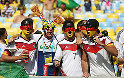 04.07.2014, Maracana, Rio de Janeiro, BRA, FIFA WM, Frankreich vs Deutschland, Viertelfinale, im Bild Germany fans // during quarterfinals between France and Germany of the FIFA Worldcup Brazil 2014 at the Maracana in Rio de Janeiro, Brazil on 2014/07/04. EXPA Pictures © 2014, PhotoCredit: EXPA/ Eibner-Pressefoto/ Cezaro<br /> <br /> *****ATTENTION - OUT of GER*****