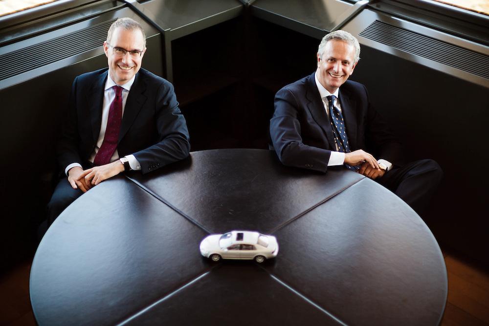 14 NOV 2011 - Verona - Wolkswagen Group Italia - Giuseppe Trataglione, presidente e amministratore delegato, e Goffredo Di Palma, dir. Risorse Umane e Organizzazione