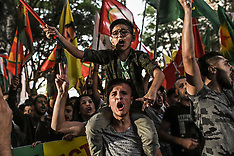 Kurds march in Athens against Turkish offensive in Syria, Athens, 12 October 2019