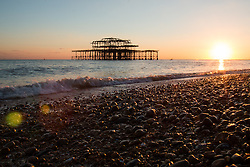 Brighton, UK. Brighton West Pier at Sunset. Photo Credit: Hugo Michiels