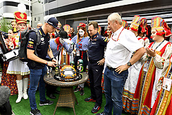 September 30, 2018 - Sochi, Russia - Max Verstappen (NED), Celebrating his 21st birthday, Red Bull Racing, Grand Prix Russia 2018, Formula1, Round 16, Sochi Autodrom circuit...Photo: Peter van Egmond.Credit: ©Peter van Egmond Motorsports: FIA Formula One World Championship 2018, Grand Prix of Russia,  #33 Max Verstappen (NDL, Red Bull Racing),   Birthday  (Credit Image: © Hoch Zwei via ZUMA Wire)
