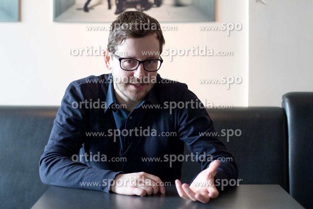 Portrait of architect Jure Kotnik, on March 15, 2017 in Ljubljana, Slovenia. Photo by Matic Klansek Velej / Sportida