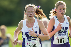 Erin Snelgrove of the Western Mustangs  competes in the women's 5k  at the 2015 Western International Cross country meet in London Ontario, Saturday,  September 26, 2015.<br /> Mundo Sport Images/ Geoff Robins