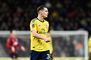 Granit Xhaka (34) of Arsenal during the The FA Cup match between Bournemouth and Arsenal at the Vitality Stadium, Bournemouth, England on 27 January 2020.