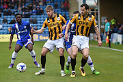 Port Vale midfielder Sam Foley shields the ball during the Sky Bet League 1 match between Gillingham and Port Vale at the MEMS Priestfield Stadium, Gillingham, England on 16 April 2016. Photo by Martin Cole.