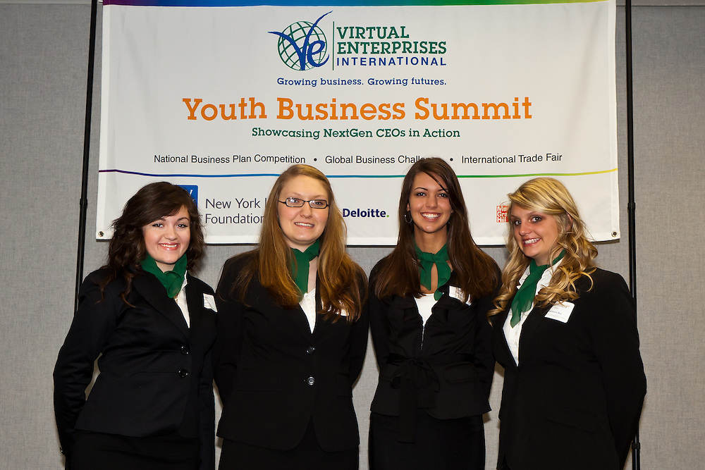 This spring, Virtual Enterprises International showcased the next generation of CEOs in action at its annual Youth Business Summit. The 2011 Youth Business Summit, which includes the National Business Plan Competition, the Global Business Challenge, Partners' Breakfast and International Trade Fair, affords students from around the globe the opportunity to gather and engage in activities that highlight their global business expertise. During the National Business Plan Competition, 19 student teams from cities across America presented their business plans to a panel of distinguished industry judges as they competed for prizes. At the Global Business Challenge, multinational teams of students were put to the test as they worked to solve a business case study involving one of the most global companies in the world, Apple, Inc. VEI presented Crystal Leadership Awards to Dennis Walcott, incoming Chancellor of the New York City Department of Education, Kishore Siva, SVP of HSBC Bank USA, N.A., and Geraldine Ambrosio, Principal of Dewitt Clinton High School during the Partners' Breakfast. The Youth Business Summit culminated in the VEI International Trade Fair on April 7, 2011 at New York City's historic 69th Regiment Armory. The International Trade Fair featured approximately 3,000 youth exhibitors in a race against time to log sales of highly desired goods and services. The VEI Youth Business Summit is sponsored by the New York Life Foundation, with additional support from Deloitte & Touche, HSBC Bank USA, N.A., and McGraw-Hill Education.