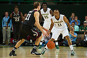 WACO, TX - DECEMBER 9: Lester Medford #11 of the Baylor Bears defends against the Texas A&M Aggies on December 9, 2014 at the Ferrell Center in Waco, Texas.  (Photo by Cooper Neill/Getty Images) *** Local Caption *** Lester Medford
