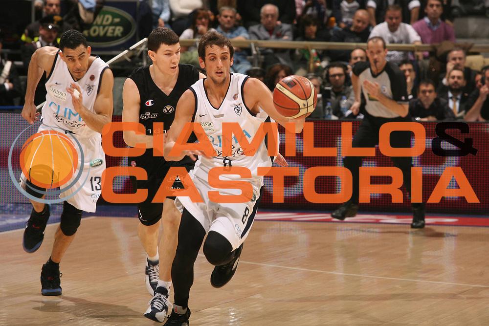 DESCRIZIONE : Bologna Lega A1 2006-07 Climamio Fortitudo Bologna VidiVici Virtus Bologna <br /> GIOCATORE : Belinelli<br /> SQUADRA : VidiVici Virtus Bologna <br /> EVENTO : Campionato Lega A1 2006-2007 <br /> GARA : Climamio Fortitudo Bologna VidiVici Virtus Bologna <br /> DATA : 11/03/2007 <br /> CATEGORIA : Contropiede Palleggio<br /> SPORT : Pallacanestro <br /> AUTORE : Agenzia Ciamillo-Castoria/M.Marchi