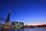 UK, London, Winter sunset at the shard building.<br /> Photo: &copy;  Zute Lightfoot