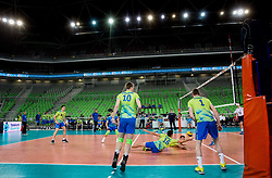 Gregor Ropret of Slovenia during volleyball match between National teams of Slovenia and Georgia in 2nd Round of 2018 FIVB Volleyball Men's World Championship qualification, on May 24, 2017 in Arena Stozice, Ljubljana, Slovenia. Photo by Vid Ponikvar / Sportida