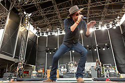 June 20, 2018 - Oshkosh, Wisconsin, U.S - MICHAEL HOBBY of A Thousand Horses during Country USA Music Festival at Ford Festival Park in Oshkosh, Wisconsin (Credit Image: © Daniel DeSlover via ZUMA Wire)