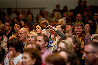 21/07/2018 repro free: President Michael D. Higgins spoke at the First Thought Talks strand at Galway International Arts Festival on Saturday July 21 in the Bailey Allen Hall in NUI Galway. The President launched this year&rsquo;s talks series with a reflection on the theme of home, which is the main theme of the talks. <br /> <br /> The First Thought Talks programme at GIAF features a series of interviews, conversations and debate which will examine the theme of home, curated by historian and archivist Catriona Crowe. First Thought Talks 2018 features 18 talks from academics, activists, architects, reporters, poets and writers with 43 participants including President Michael D. Higgins, Catherine Corless, Andrew O&rsquo;Hagan, John Lanchester, Sarah Hickson, Liz Fekete, Roy Foster, Tomi Reichental, Mitchell Joachim, Paula Meehan, Lucy McDiarmid and Diarmuid Ferriter amongst an extensive number of leading international voices and journalists from around the world. For more see www.giaf.ie<br /> <br /> Pictures: Andrew Downes/Xposure