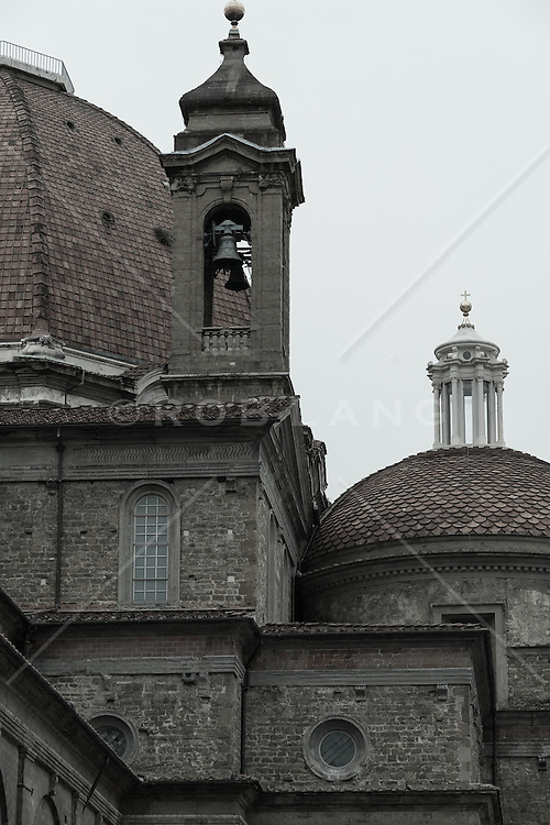 detail of a church in Florence, Italy