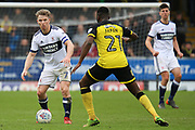 Middlesbrough midfielder Grant Leadbitter on the ball during the EFL Sky Bet Championship match between Burton Albion and Middlesbrough at the Pirelli Stadium, Burton upon Trent, England on 2 April 2018. Picture by Aaron  Lupton.