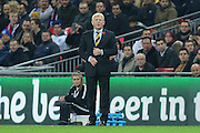 Scotland Manager Gordon Strachan during the FIFA World Cup Qualifier group stage match between England and Scotland at Wembley Stadium, London, England on 11 November 2016. Photo by Phil Duncan.