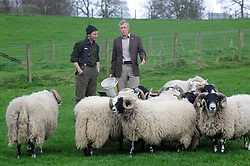 Willie Rennie, Kelty, 21-4-2017<br /> <br /> Willie Rennie with Stuart McDougall of Mill House talk about farming<br /> <br /> (c) David Wardle | Edinburgh Elite media