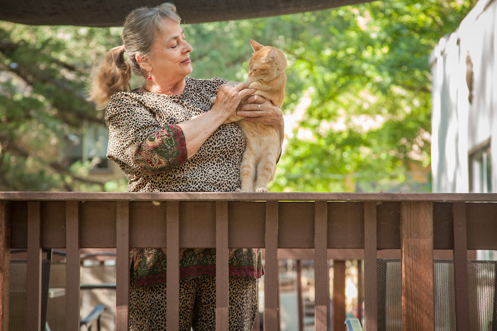 """""""My home burned  last September in the big fire... I moved to Calistoga in September and now live at the Russian Orthodox rectory with my son.""""  -Maria Provatakis"""