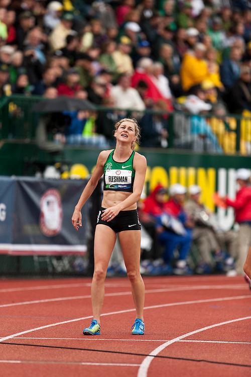 Women's 5000 meters: Lauren Fleshman reacts to qualifiying