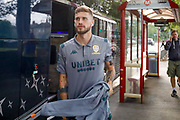 Leeds United midfielder Mateusz Klich (43) arrives during the Pre-Season Friendly match between Guiseley  and Leeds United at Nethermoor Park, Guiseley, United Kingdom on 11 July 2019.