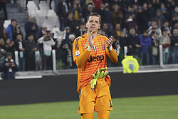 March 8, 2019 - Turin, Piedmont, Italy - Wojciech Szczesny (Juventus FC) celebrates the victory after the Serie A football match between Juventus FC and Udinese Calcio at Allianz Stadium on March 08, 2019 in Turin, Italy..Juventus won 4-1 over Udinese. (Credit Image: © Massimiliano Ferraro/NurPhoto via ZUMA Press)