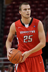29 November 2014:  Fletcher Larson during an NCAA men's basketball game between the Youngstown State Penguins and the Illinois State Redbirds  in Redbird Arena, Normal IL.