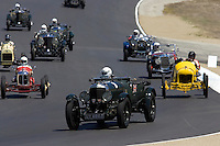 MONTEREY, CA - AUGUST 18:  Participants take part in the Pre-1939 Sports, Touring Cars exhibition race during the Monterey Historic Automobile Races at the Mazda Raceway Laguna Seca on August 18, 2007 in Monterey, California.  (Photo by David Paul Morris)