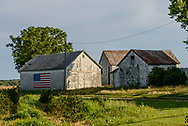 Barn with American Flag, Southold, NY, Long Island