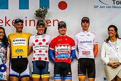 The jerseys: Marcel KITTEL (GER, GIA), Ronan van Zandbeek (BEL, RIJ), Tyler Farrar (USA, GRS), Timo Roosen (NED, RDT), Stage 3 Buchten - Buchten, Ster ZLM Toer, Buchten, The Netherlands, 20th June 2014, Photo by Thomas van Bracht / Peloton Photos