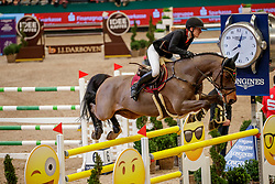 BORMANN Finja (GER), A crazy son of Lavina<br /> Leipzig - Partner Pferd 2020<br /> Longines FEI Jumping World Cup™Qualifikations-Prüfung<br /> Springprfg. nach Fehlern und Zeit, international<br /> 17. Januar 2020<br /> © www.sportfotos-lafrentz.de/Stefan Lafrentz
