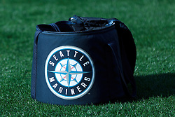 OAKLAND, CA - APRIL 03:  Detailed view of a Seattle Mariners logo baseball bag on the field before the game against the Oakland Athletics at O.co Coliseum on April 3, 2014 in Oakland, California. The Oakland Athletics defeated the Seattle Mariners 3-2 in 12 innings.  (Photo by Jason O. Watson/Getty Images) *** Local Caption ***