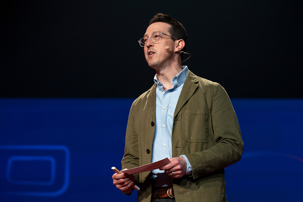 Colin Helms speaks at TED Interview Live at TED2019: Bigger Than Us. April 15 - 19, 2019, Vancouver, BC, Canada. Photo: Bret Hartman / TED