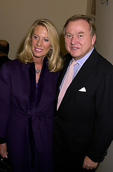SIR ANTHONY & LADY BAMFORD at a party in London on 7th November 2000.OIT 94