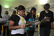 Oxford High student Malacia Coleman learns about paying bills during a Reality Fair at the school on Thursday, January 14, 2010.