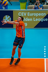 12-06-2019 NED: Golden League Netherlands - Estonia, Hoogeveen<br /> Fifth match poule B - The Netherlands win 3-0 from Estonia in the series of the group stage in the Golden European League / Michael Parkinson #17 of Netherlands