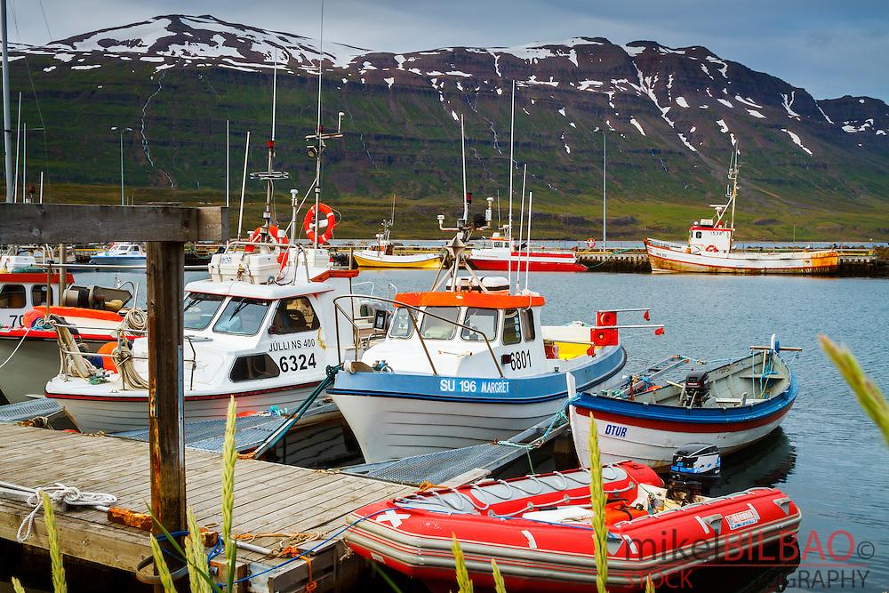Fishing port. Seydisfjordur. Iceland, Europe
