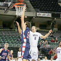 Patriot Tommy Holaway (54) lays up for two against defender Brett Uhlemeyer (2)