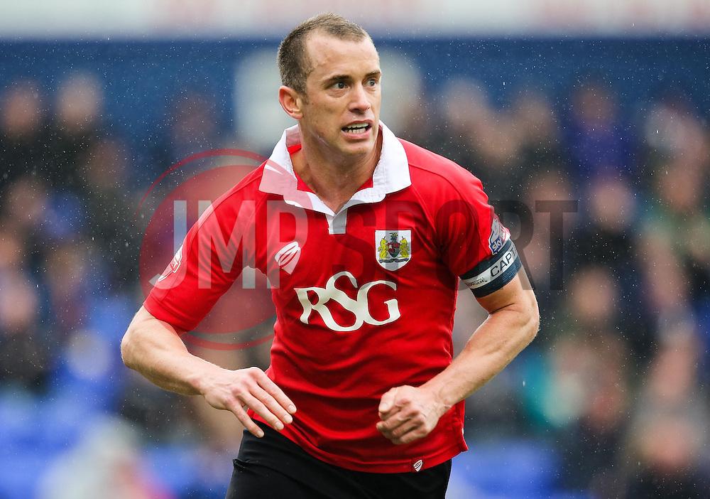 Bristol City's Aaron Wilbraham in action  - Photo mandatory by-line: Matt McNulty/JMP - Mobile: 07966 386802 - 03/04/2015 - SPORT - Football - Oldham - Boundary Park - Oldham Athletic v Bristol City - Sky Bet League One